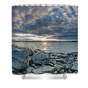 Curve Off The Bay Shower Curtain