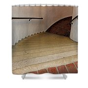 Curved Stairway At Brandywine River Museum Shower Curtain