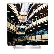 Curved Walkways Shower Curtain