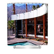 Curves Ahead Ocotillo Lodge Palm Springs Shower Curtain