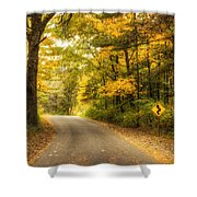 Curves Ahead Shower Curtain by Scott Norris
