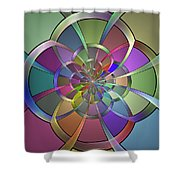 Curves Shower Curtain by Sandy Keeton