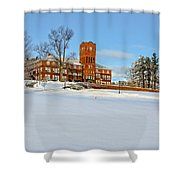 Cushing Academy In Winter Shower Curtain