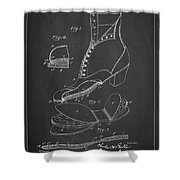 Cushion Insole For Shoes Patent Drawing From 1905 Shower Curtain