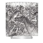 Custer's Clash Shower Curtain
