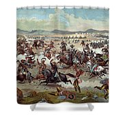 Custer's Last Charge Shower Curtain