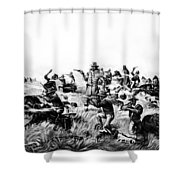 Custer's Last Fight, 1876 Shower Curtain