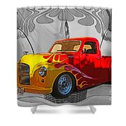 Custom Flames Shower Curtain