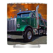 Custom Gravel Truck Catr0278-12 Shower Curtain