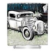 Custom Hot Rod Pickup Shower Curtain