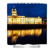 Custom House And International Financial Services Centre Shower Curtain