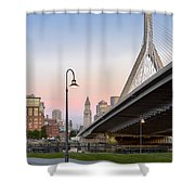 Custom House And Zakim Bridge Shower Curtain