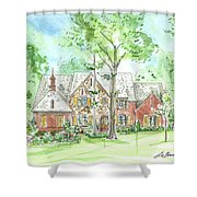 House Portrait Or Rendering Sample Shower Curtain