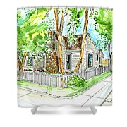 House Portrait Sample Shower Curtain
