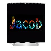 Customized Baby Kids Adults Pets Names - Jacob 3 Name Shower Curtain