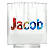 Customized Baby Kids Adults Pets Names - Jacob 5 Name Shower Curtain