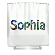 Customized Baby Kids Adults Pets Names - Sophia Name Shower Curtain