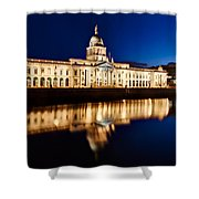 Customs House At Night / Dublin Shower Curtain by Barry O Carroll
