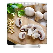 Cut Champignons Shower Curtain