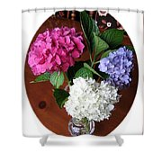 Cut Hydrangeas Shower Curtain
