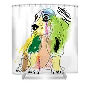Cute Dog 2 Shower Curtain