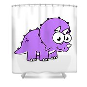 Cute Illustration Of A Triceratops Shower Curtain