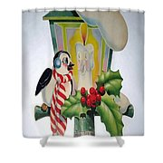 Cute Vintage Christmas Shower Curtain