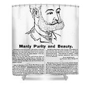 Cuticura Ad, 1887 Shower Curtain