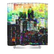 Cutout Art City Optimist Shower Curtain