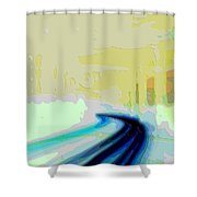 Cutout Art Geographic Focus Shower Curtain