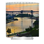Cuyahoga River Cleveland Ohio Shower Curtain