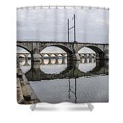 Cv - Susquehanna River Bridge Harrisburg  Pennsylvania Shower Curtain