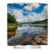Cwellyn Lake Wales Shower Curtain