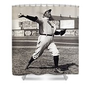 Cy Young - American League Pitching Superstar - 1908 Shower Curtain