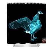 Cyan Canada Goose Pop Art - 7585 - Bb  Shower Curtain