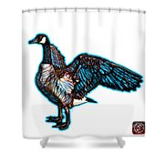 Cyan Canada Goose Pop Art - 7585 - Wb Shower Curtain