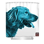 Cyan Golden Retriever - 4047 Fs Shower Curtain