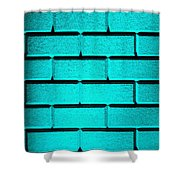 Cyan Wall Shower Curtain