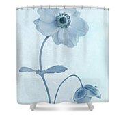Cyanotype Windflowers Shower Curtain