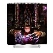 Cyberpunk - Mad Skills Shower Curtain by Mike Savad