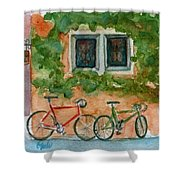 Cycle Cafe Shower Curtain