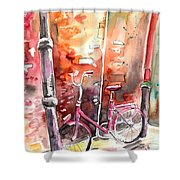 Cycling In Italy 02 Shower Curtain