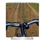 Cycling In The Country Shower Curtain