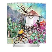 Cycling In The Mountains Of Gran Canaria Shower Curtain