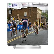 Cycling Stage Win Shower Curtain