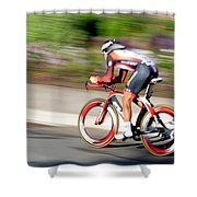 Cyclist Time Trial Shower Curtain
