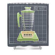 Cyclo-blend -lime Shower Curtain