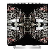 Cyclone Abstract Shower Curtain