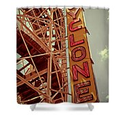 Cyclone Roller Coaster - Coney Island Shower Curtain