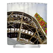 Cyclone Roller Coaster Shower Curtain